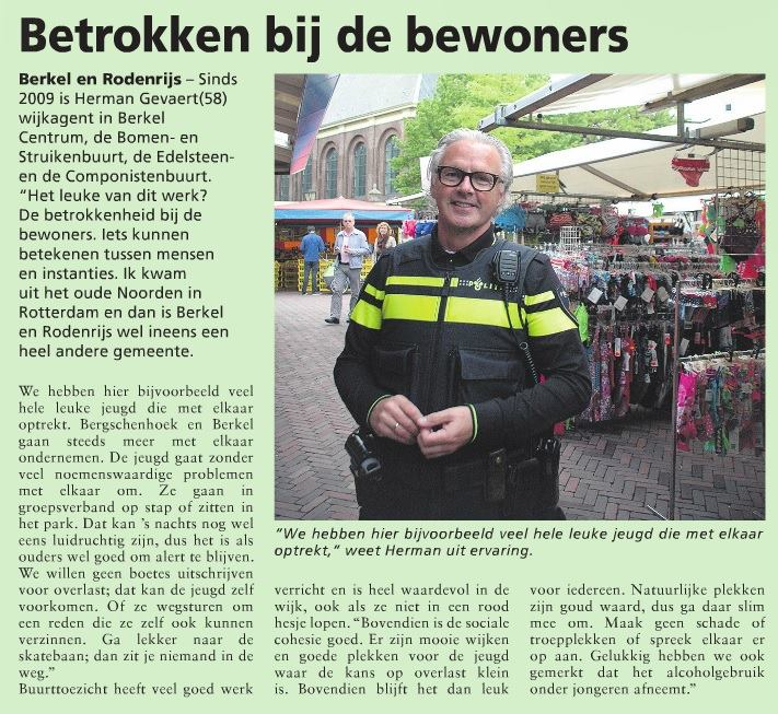Wijkagent Herman Gevaert